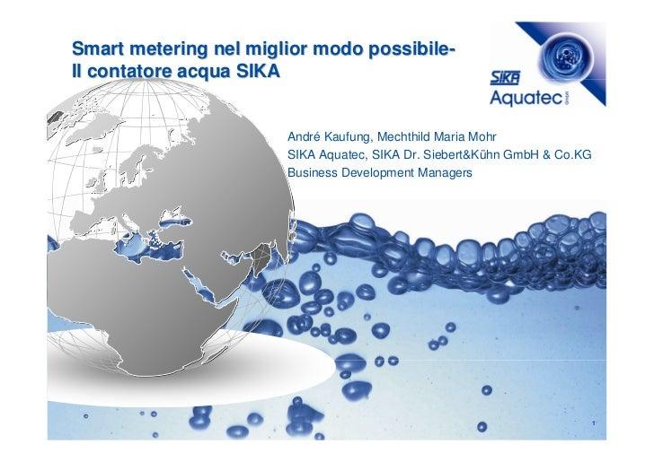 Smart metering nel miglior modo possibile-Il contatore acqua SIKA                       André Kaufung, Mechthild Maria Moh...