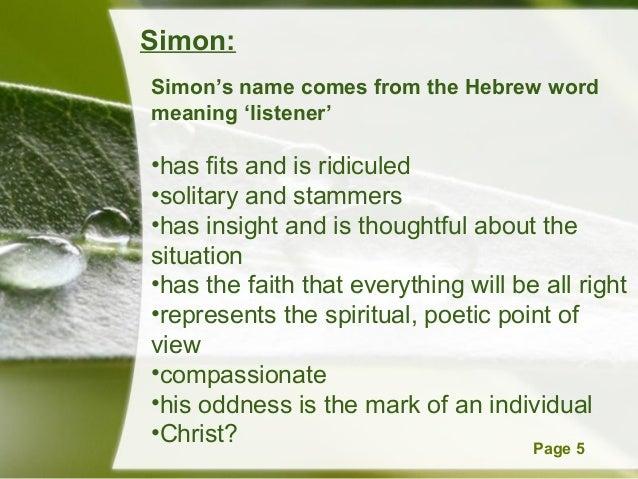 Bedeutung Name Simon