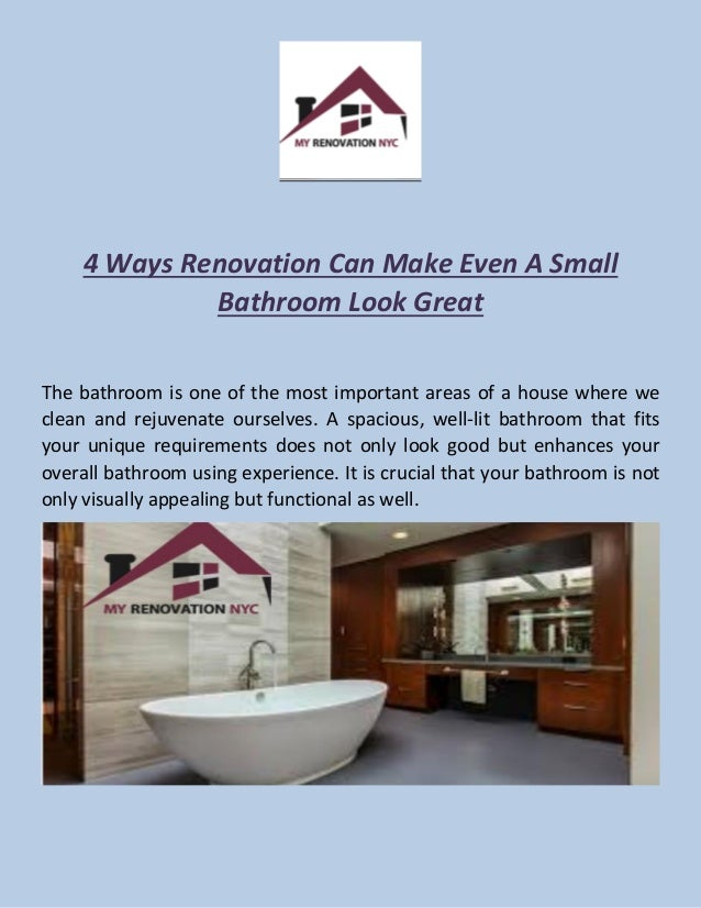 4 Simple Ways To Make A Small Bathroom Look Great