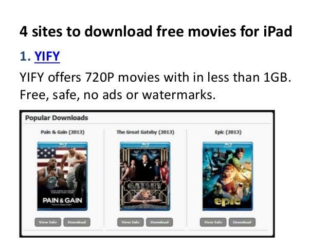 download free movies on ipad