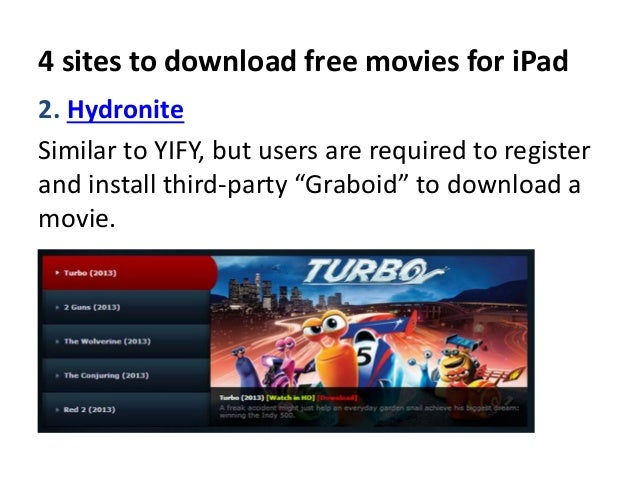 free movie downloads for ipad 2