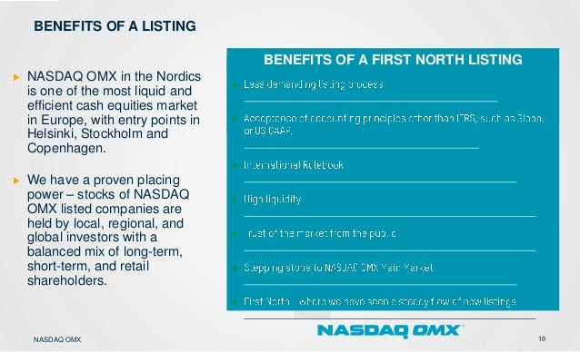 11 FIRST NORTH COMPLEMENTS THE MAIN MARKET - Combines simplicity, expertise and visibility * where possible