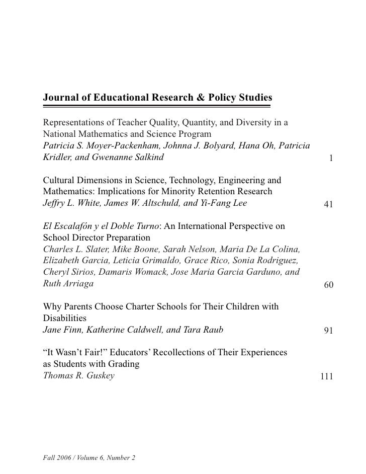 Journal of Educational Research & Policy Studies  Representations of Teacher Quality, Quantity, and Diversity in a Nationa...