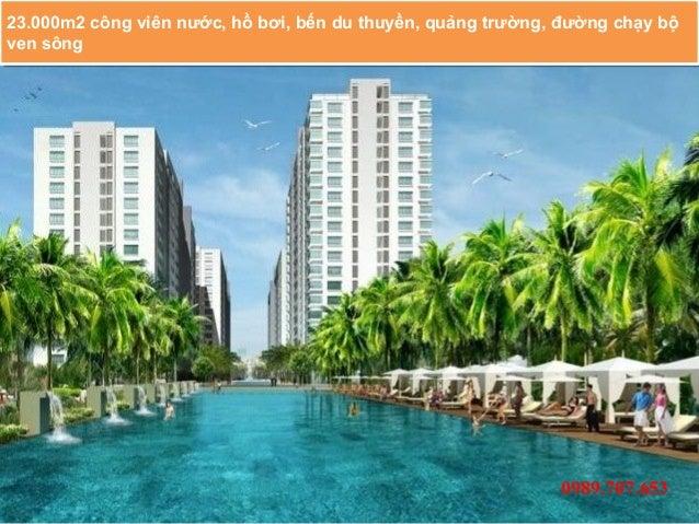 23.000m2 công viên nước, hồ bơi, bến du thuyền, quảng trường, đường chạy bộ 23.000m2 công viên nước, hồ bơi, bến du thuyền...
