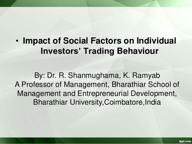 the impact of society on an individuals pattern of behavior