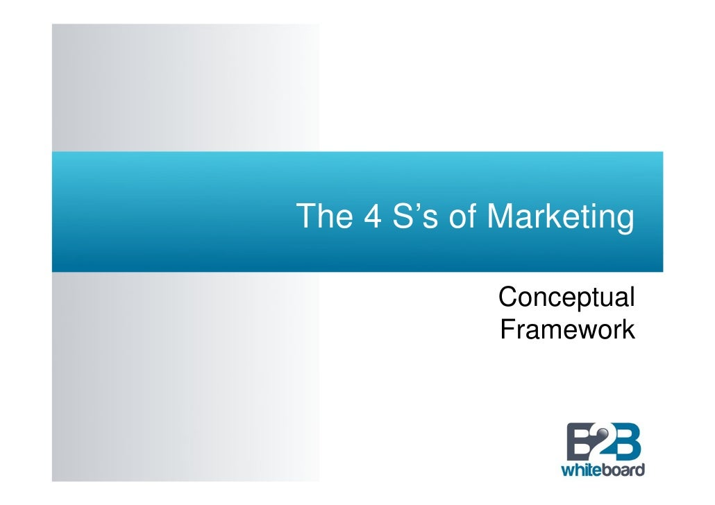 The 4 S's of Marketing             Conceptual             Framework