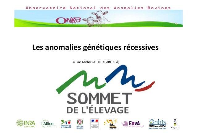 Lesanomaliesgénétiquesrécessives PaulineMichot(ALLICE/GABIINRA)