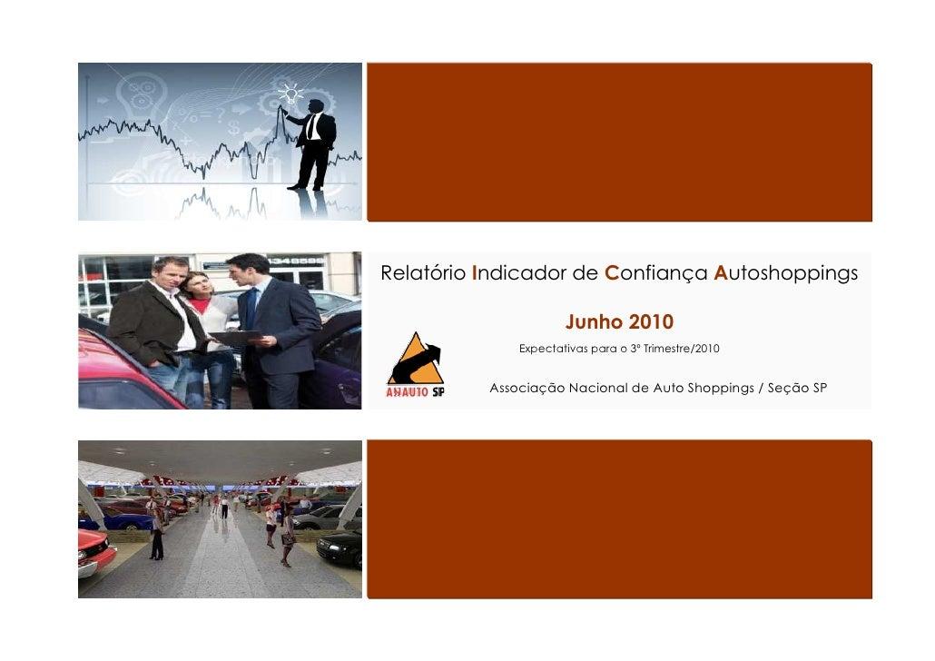Relatório Indicador de Confiança Autoshoppings                        Junho 2010               Expectativas para o 3º Trim...