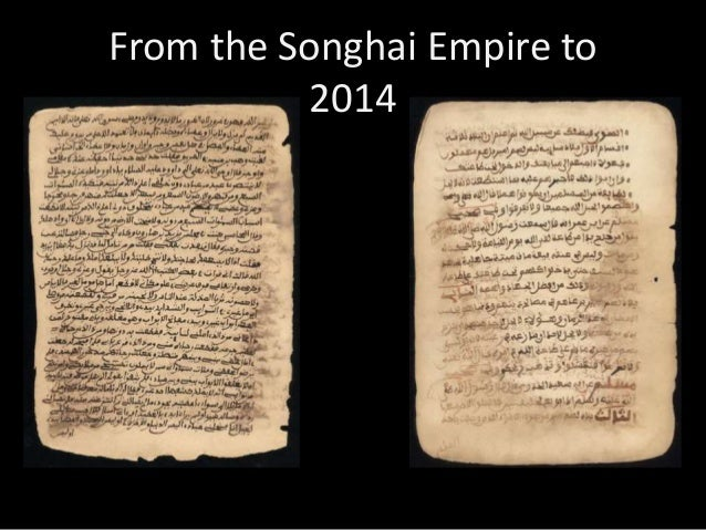 From the Songhai Empire to 2014