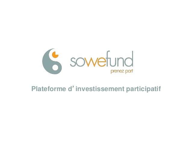 Plateforme d'investissement participatif