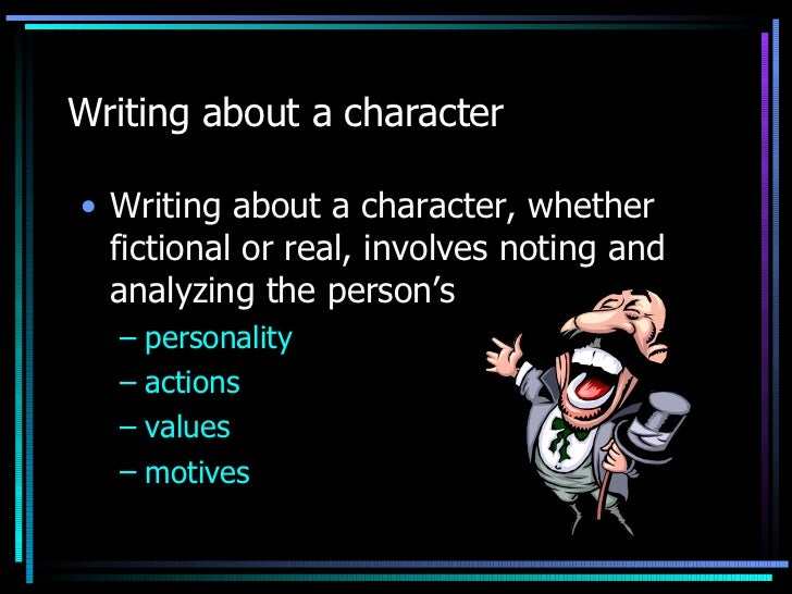 character sketch essay writing about a character