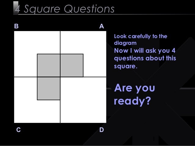 4 Square QuestionsB              A                   Look carefully to the                   diagram                   Now...