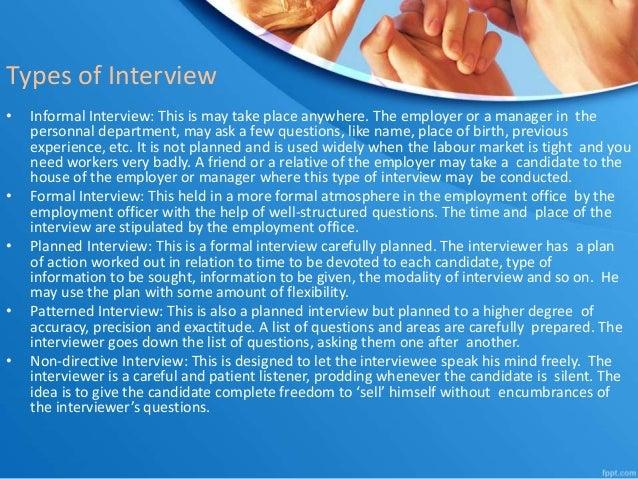 27. Types Of Interview U2022 Informal ...