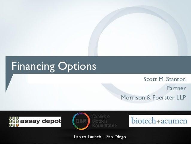 Financing Options                                         Scott M. Stanton                                                ...