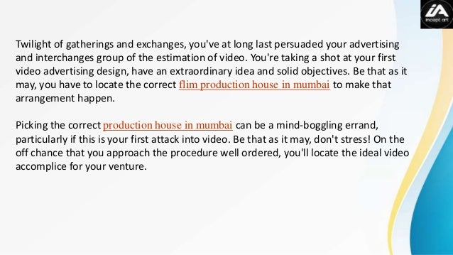 Advertising Production Houses In Mumbai