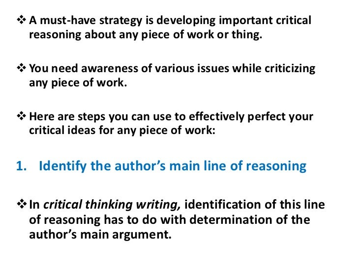 steps writing critical thinking essay A resource to assist tutors  table of contents the academic world 3 critical thinking 4  preparing to write an essay 6   (football) rules of essay writing .
