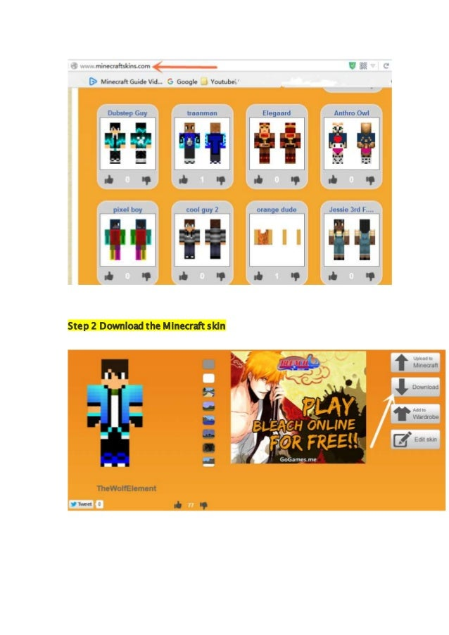 Steps How To Change Minecraft Skin In Official - Skins para minecraft pe bleach