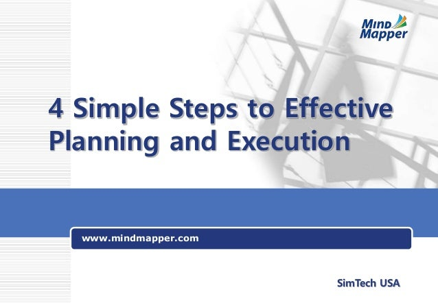 www.mindmapper.com 4 Simple Steps to Effective Planning and Execution SimTech USA