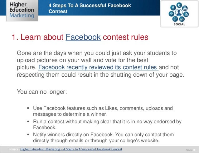 4 steps to a successful facebook contest