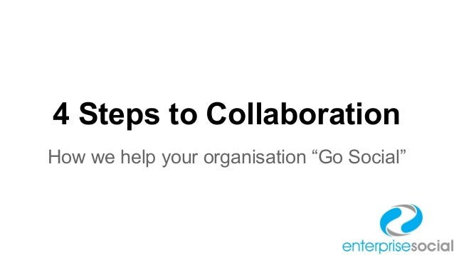 """4 Steps to Collaboration How we help your organisation """"Go Social"""""""