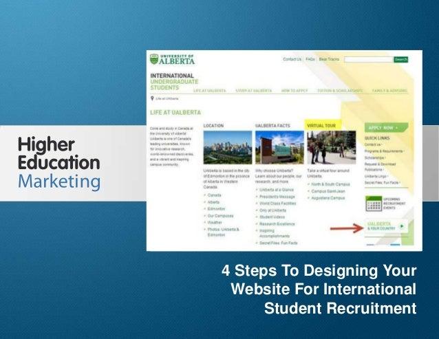 4 Steps To Designing Your Website For International Student Recruitment Slide 1 4 Steps To Designing Your Website For Inte...