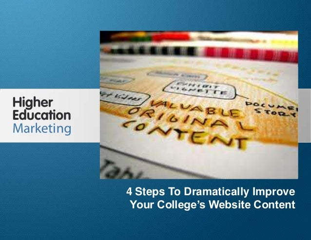 4 Steps To Dramatically Improve Your College's Website Content Slide 1 4 Steps To Dramatically Improve Your College's Webs...