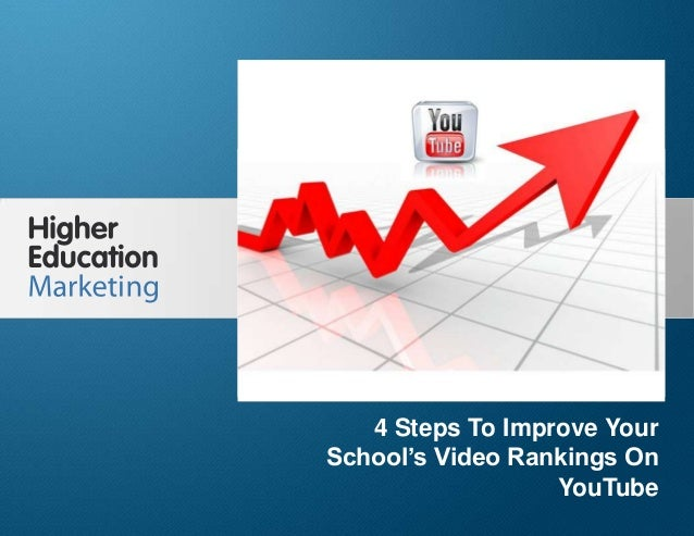 4 Steps To Improve Your School's Video Rankings On YouTube Slide 1 4 Steps To Improve Your School's Video Rankings On YouT...