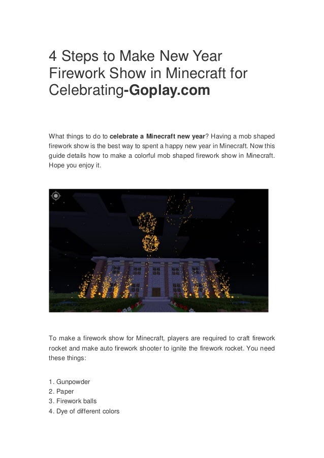 minecraft fireworks guide