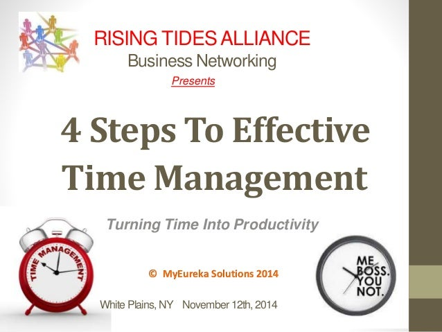 RISING TIDES ALLIANCE  Business Networking  Presents  4 Steps To Effective  Time Management  Turning Time Into Productivit...