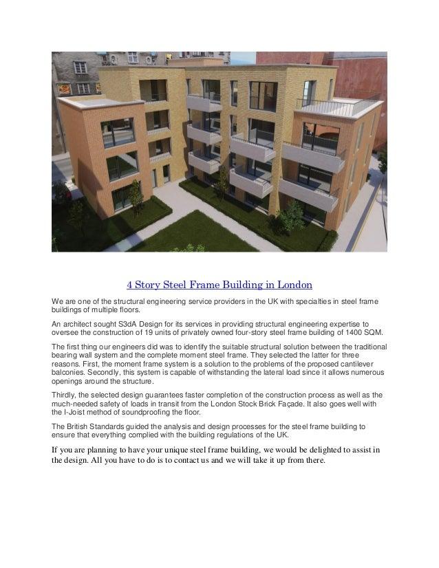 4 story steel frame building in London