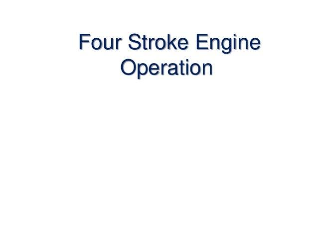 Four Stroke Engine Operation