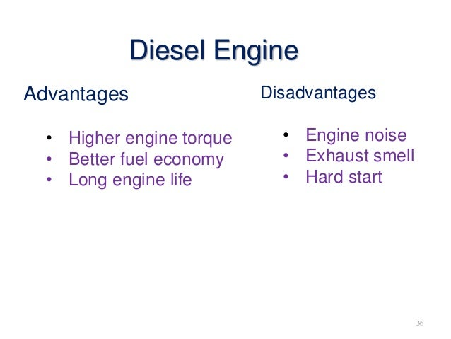 diesel engine advantages and disadvantages pdf