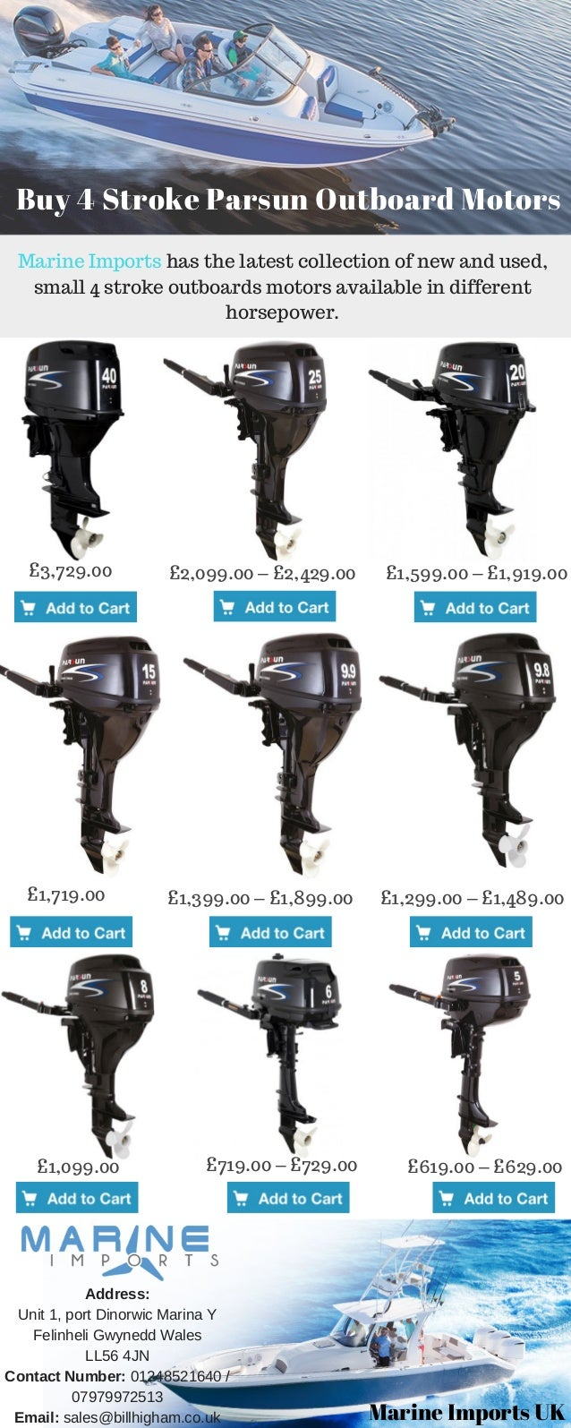 4 Stroke Parsun Outboard Motors and Engines