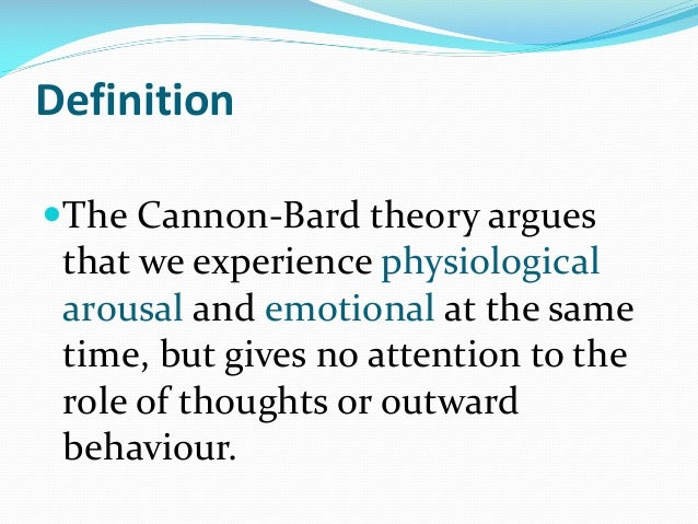 the cannon bard theory of emotion