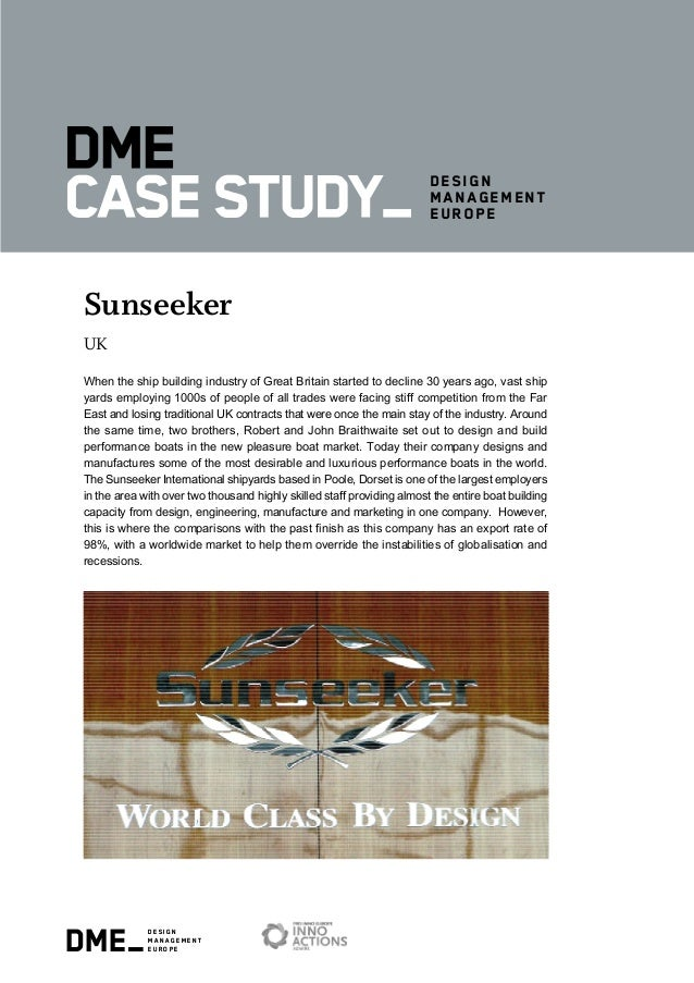 dme_design management europe design management europe Sunseeker UK When the ship building industry of Great Britain starte...