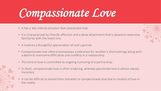 romantic love vs companionate love