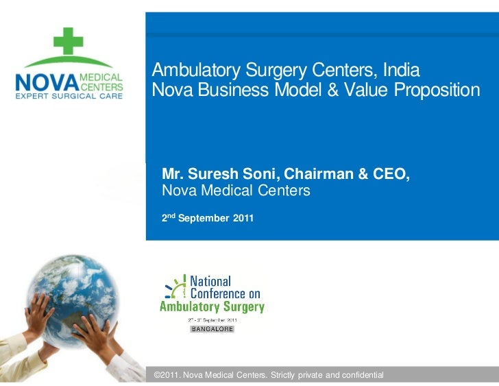 Ambulatory Surgery Centers, IndiaNova Business Model & Value Proposition Mr. Suresh Soni, Chairman & CEO, Nova Medical Cen...