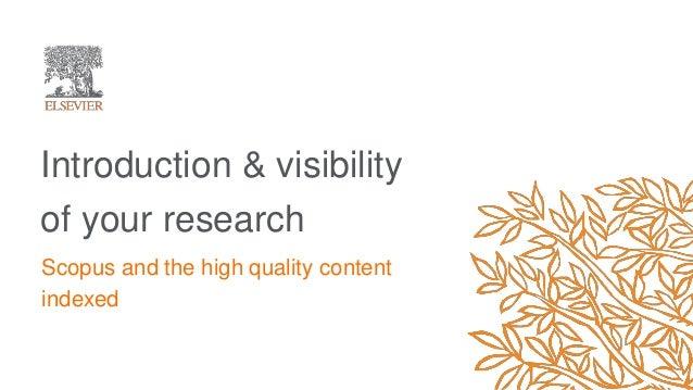 Susanne Steiginga - The power of Scopus: Interoperability, visibility & credibility Slide 3