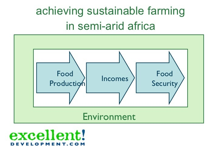 achieving sustainable farming in semi-arid africa Food Production Incomes Food Security Environment Food Production Income...