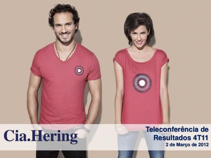 Teleconferência de  Resultados 4T11     2 de Março de 2012
