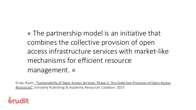 Partnerships with Libraries Establish an OA support fund for journals already in open access (and thus previously not able...
