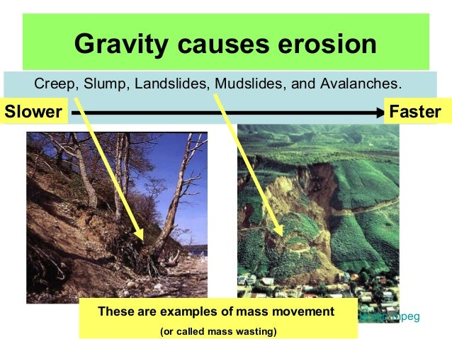 Gravity erosion • geolearning • department of earth sciences.