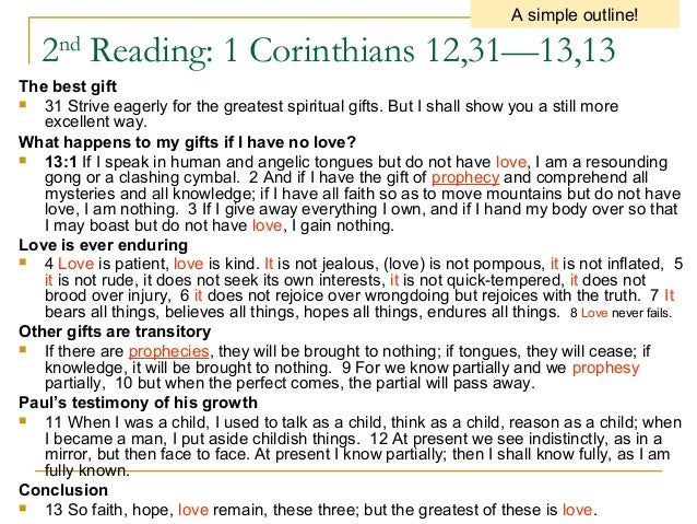 This Christmas Love 1 Corinthians 12 31: 4th Sunday C
