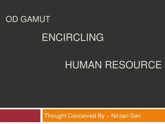 OD GAMUTThought Conceived By – Nirzari SenENCIRCLINGHUMAN RESOURCE