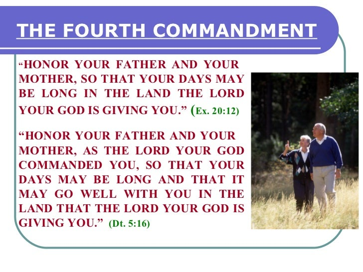 4th commandment & family