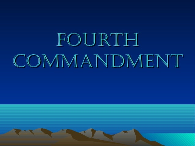 4th commandment (family)