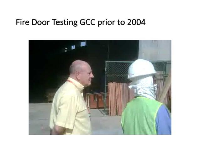 Fire  Door  Testing  GCC  prior  to  2004