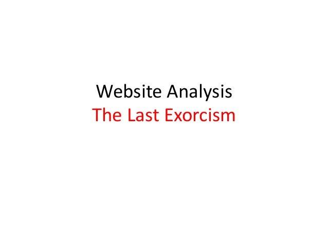 Website Analysis The Last Exorcism