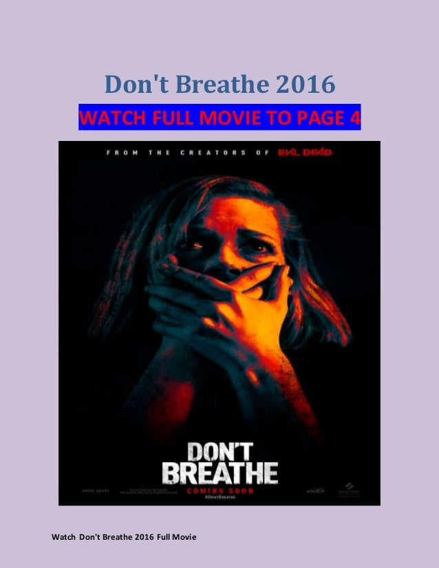 Watch Don't Breathe (2016) full movies