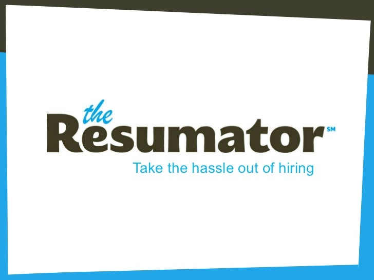 Marvelous SlideShare With The Resumator